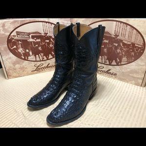 Black Alligator Lucchese boots